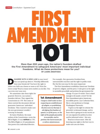 why is the 1st amendment important