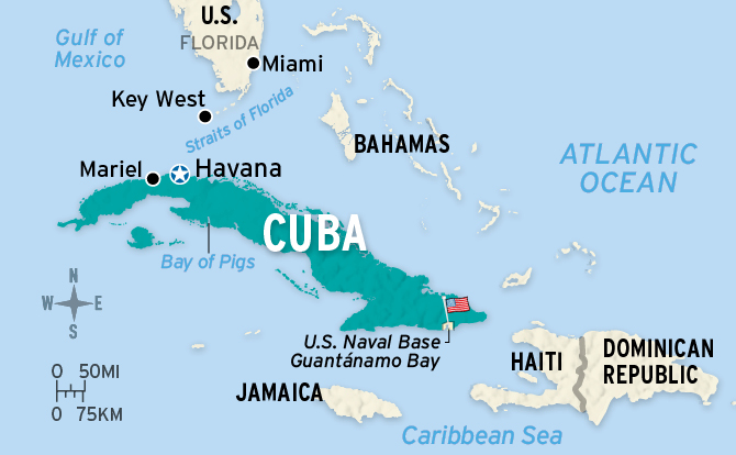 Florida To Cuba Map.A New Day For Cuba