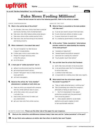 fake news essay prompts