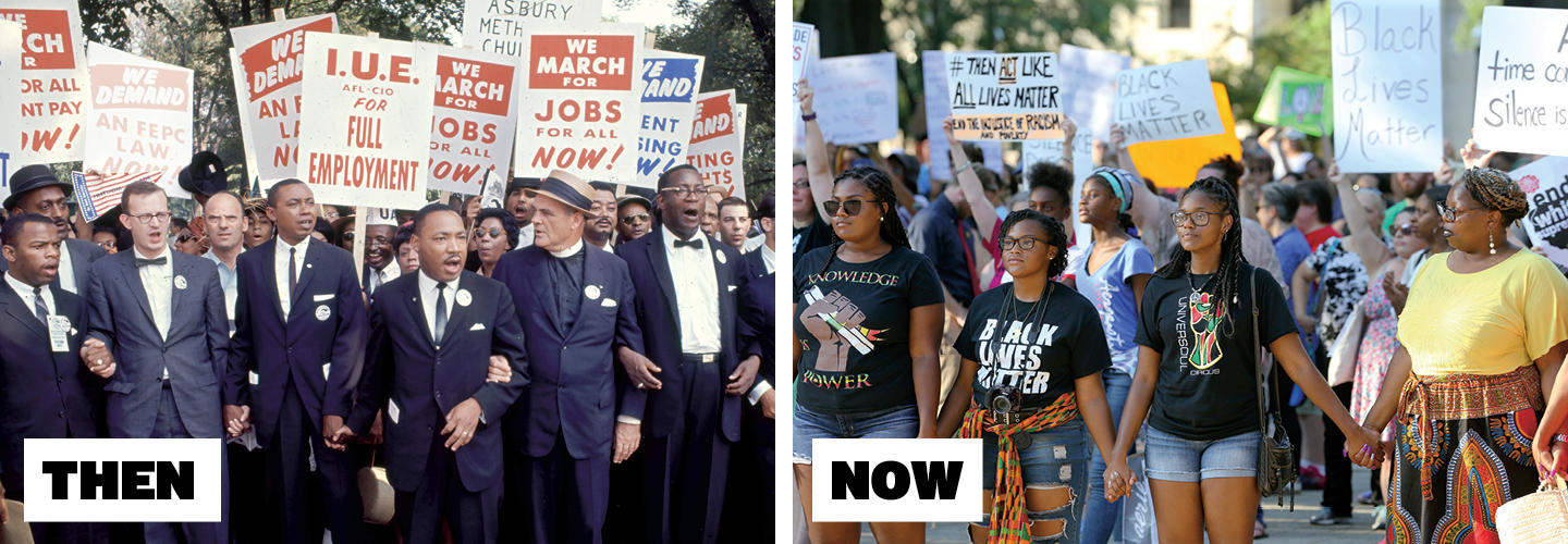 Martin Luther King and Black Lives Matter movements 50 year gap