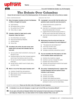 The debate over columbus quiz the debate over columbus ibookread Download