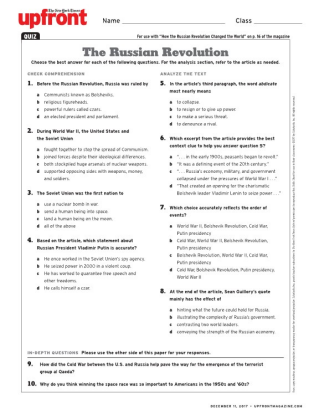russian revolution exam questions Looking for top russian revolution quizzes play russian revolution quizzes on  proprofs, the most popular quiz resource choose one of the thousands addictive .